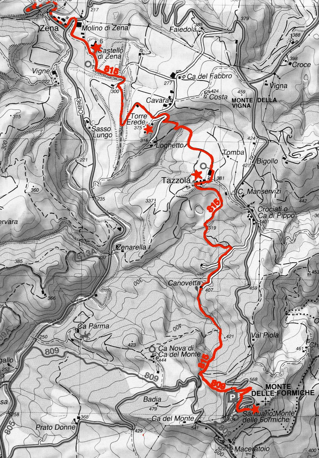 Sentiero Zena Monte delle Formiche