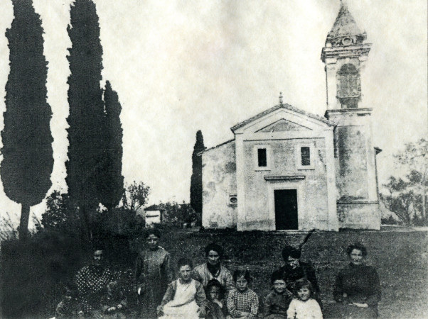 Chiesa di Casola prima del bombard.1944