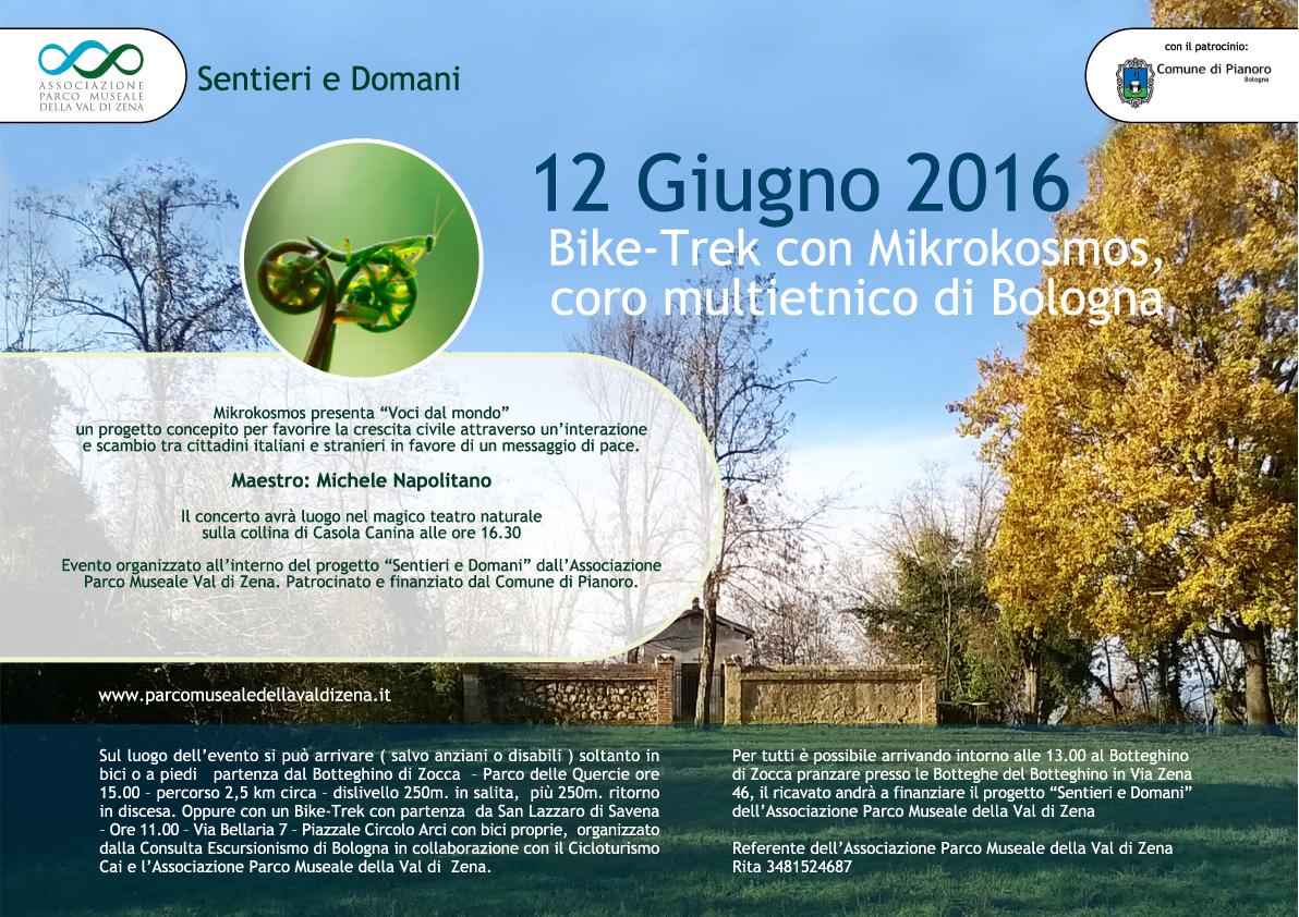 12 Giugno 2016 Bike-Trek con Mikrokosmos, coro multietnico di Bologna
