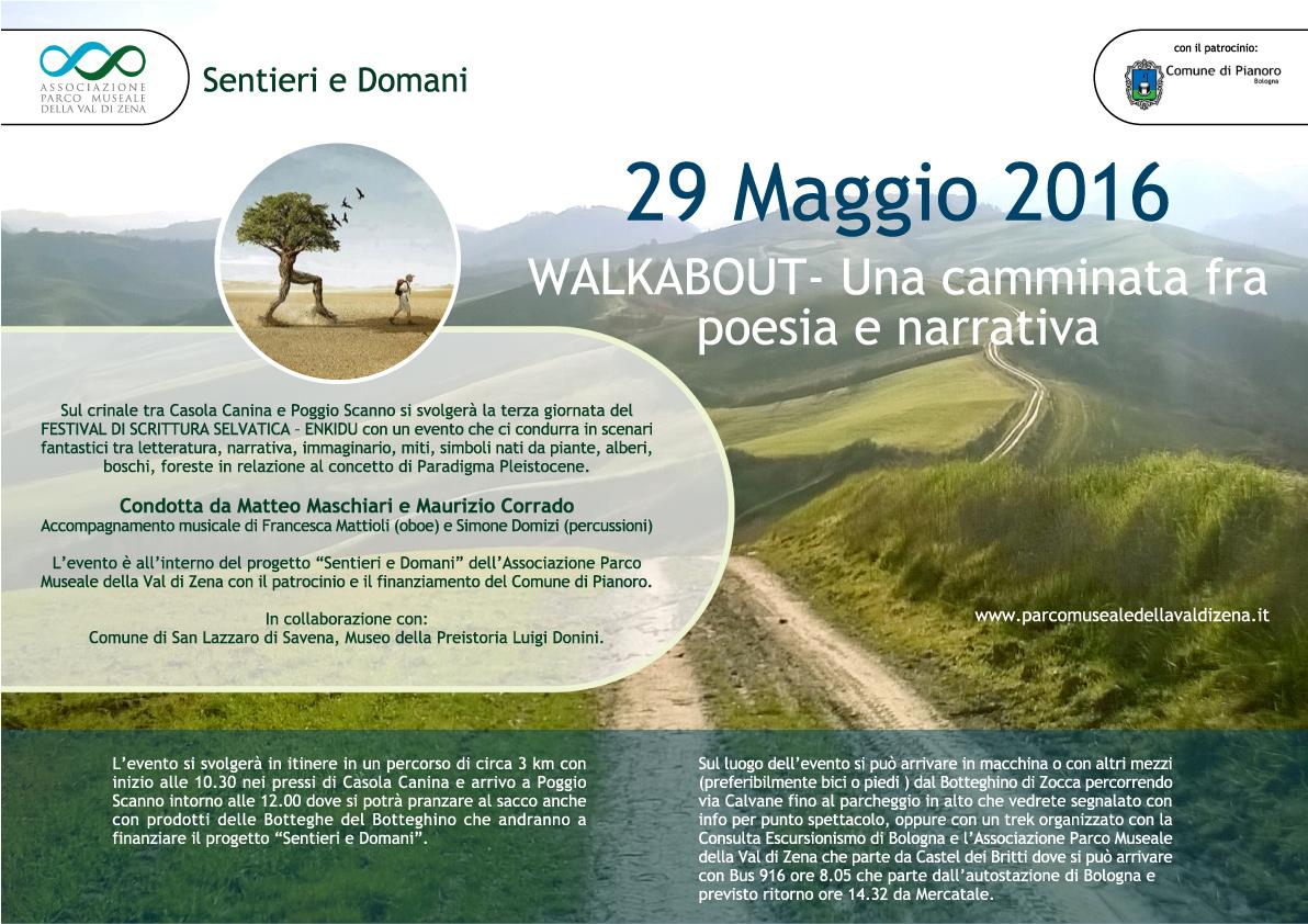 29 Maggio 2016 – WALKABOUT- Una camminata fra poesia e narrativa