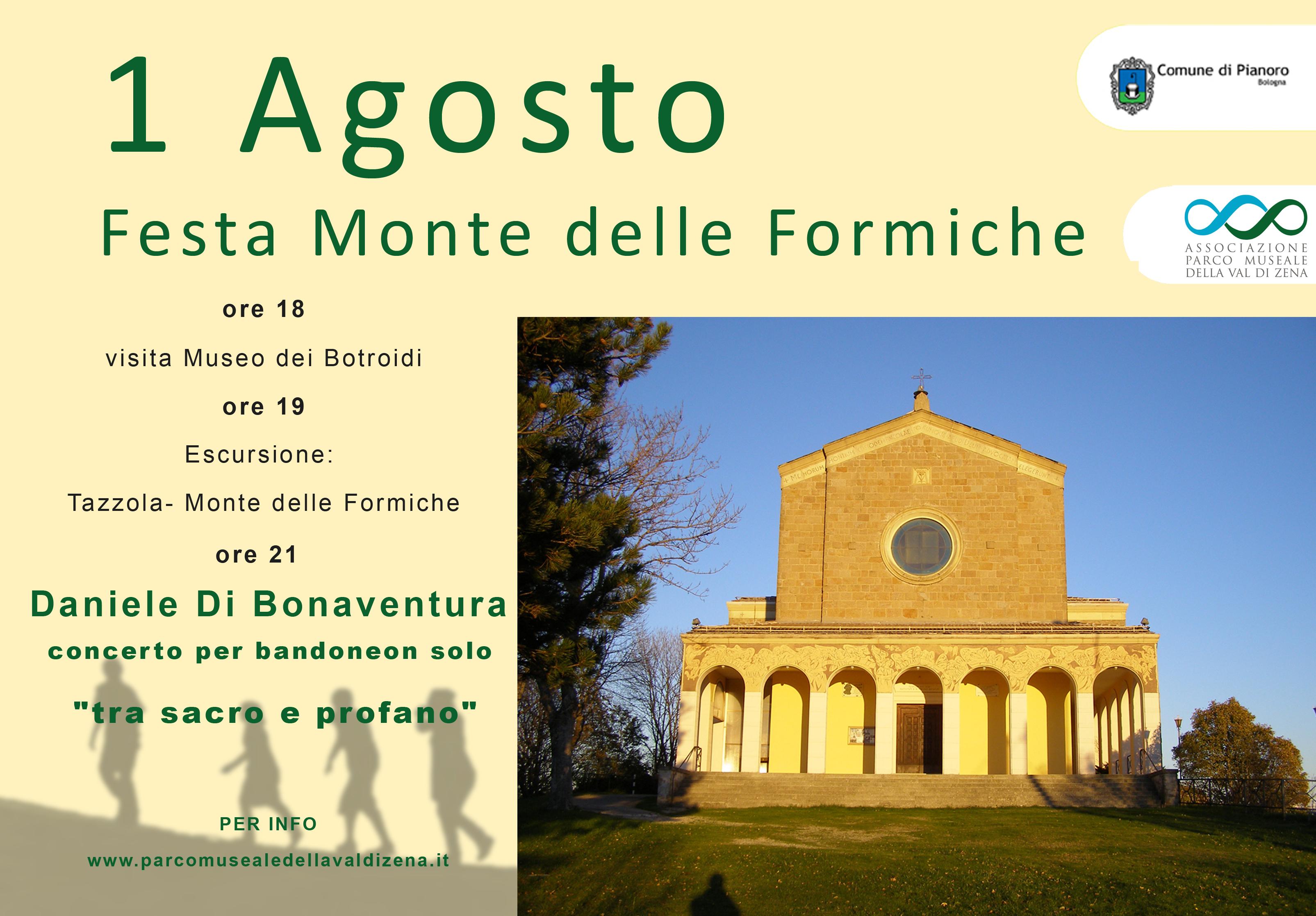 1 Agosto 2017 Festa del Monte delle Formiche