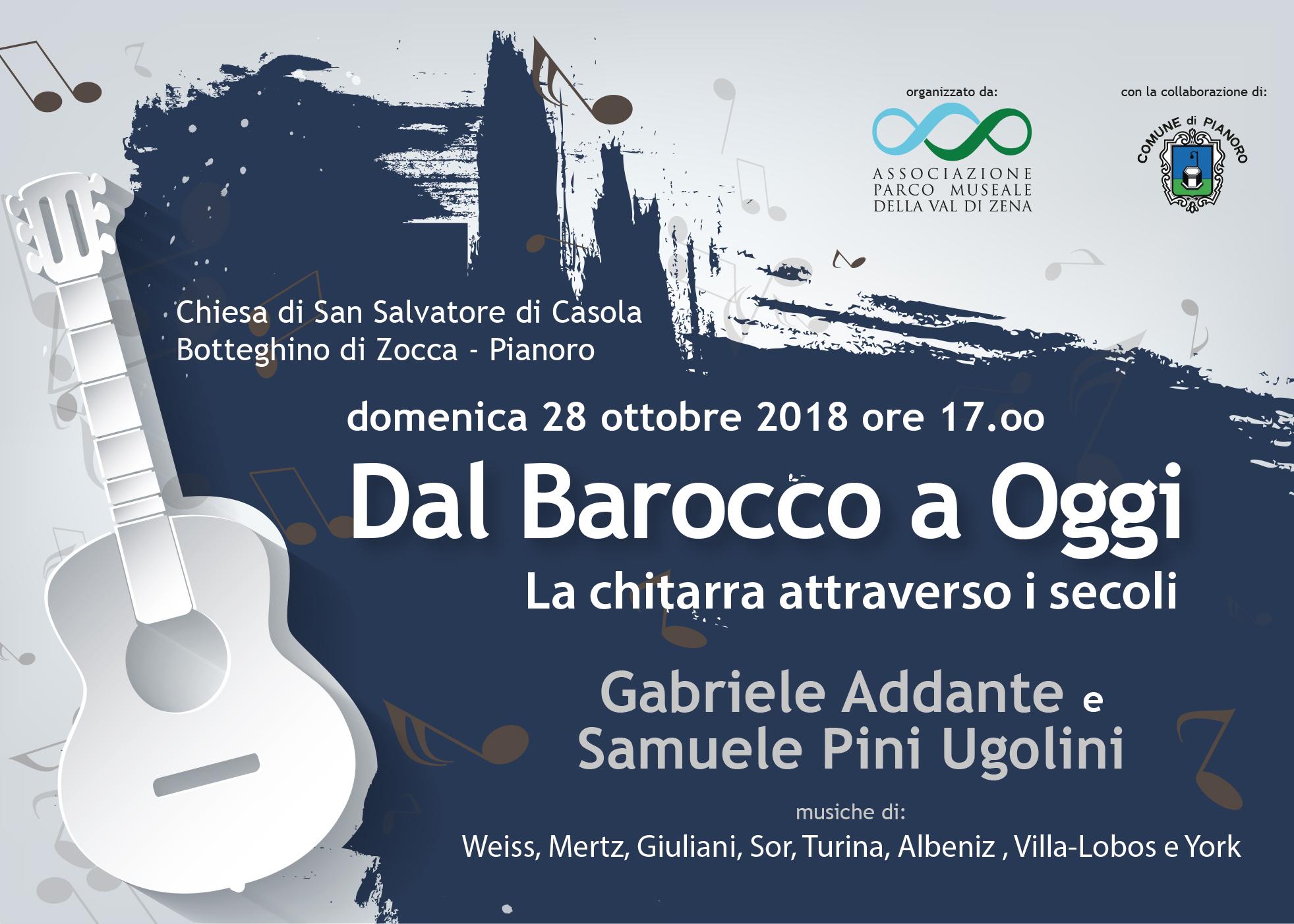 28 Ottobre 2018 Dal Barocco a Oggi.  La chitarra attraverso i secoli