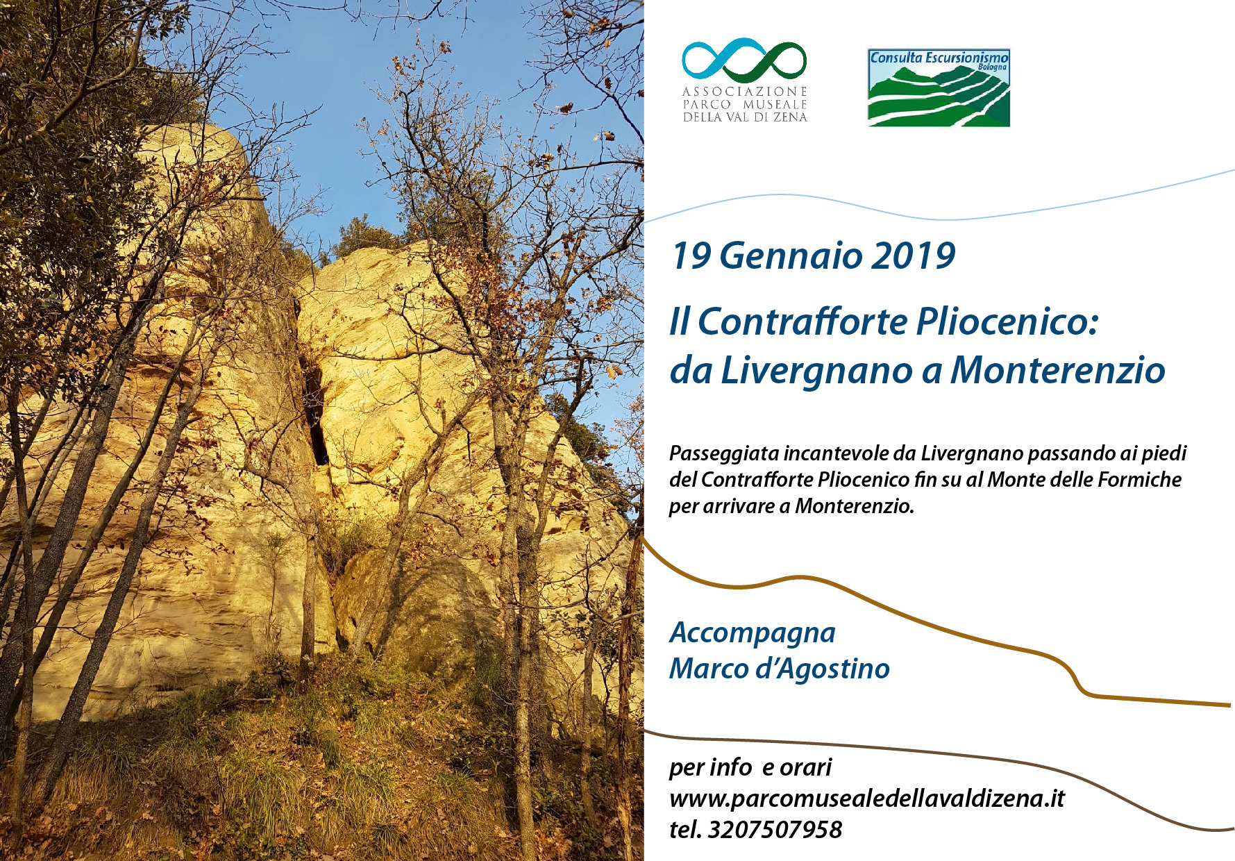 19 Gennaio 2019 — Il Contrafforte Pliocenico: da Livergnano a Monterenzio